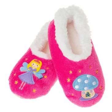 Girls Size 2/3  Snoozies Slippers Fairy Tale Kids - PINK FAIRY